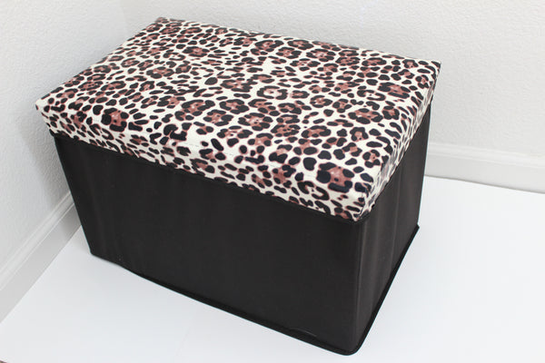 "12-4-6 foldable storage ottoman with lid 20"" W x 12"" D x 12"" H"