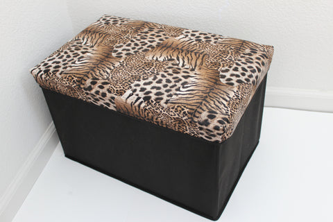 "12-4-7 foldable storage ottoman with lid 20"" W x 12"" D x 12"" H"