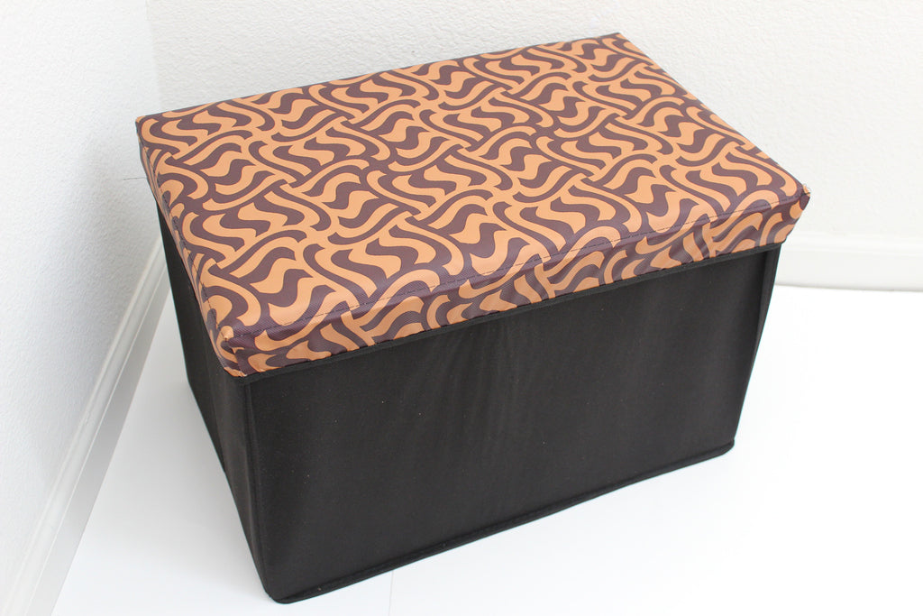 "12-4-9 foldable storage ottoman with lid 20"" W x 12"" D x 12"" H"