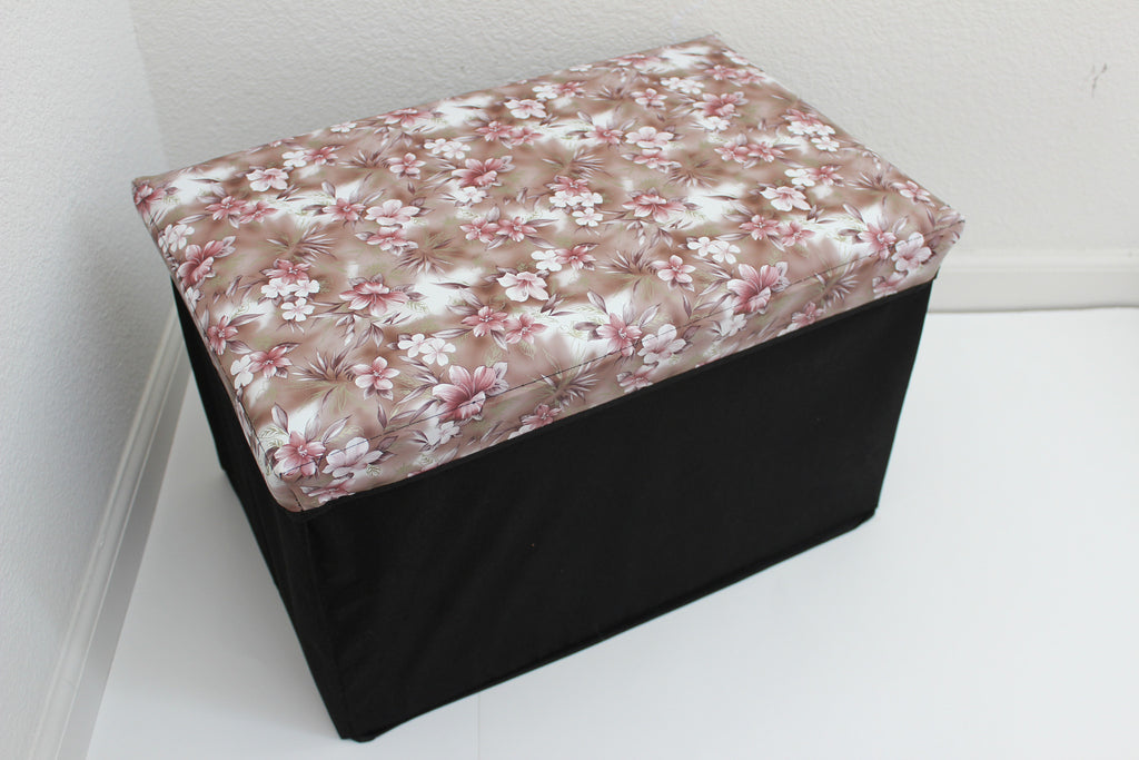 "12-4-8 foldable storage ottoman with lid 20"" W x 12"" D x 12"" H"