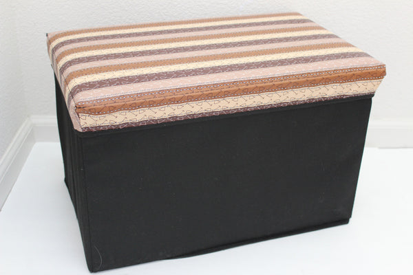 "12-4-10 foldable storage ottoman with lid 20"" W x 12"" D x 12"" H"