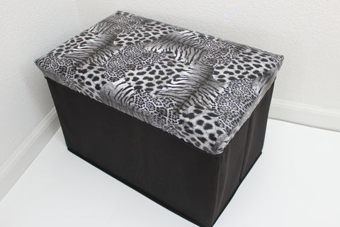 "12-4-3 foldable storage ottoman with lid 20"" W x 12"" D x 12"" H"