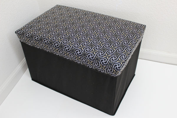 "12-4-4 foldable storage ottoman with lid 20"" W x 12"" D x 12"" H"