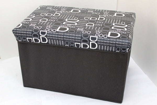 "12-4-1 foldable storage ottoman with lid 20"" W x 12"" D x 12"" H"