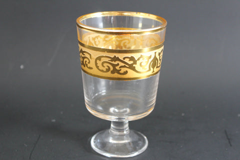 15-13 Glass Cup Set 6 pieces Gold Plated