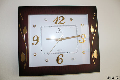 21-2 wall Clock Square design. stem plant design
