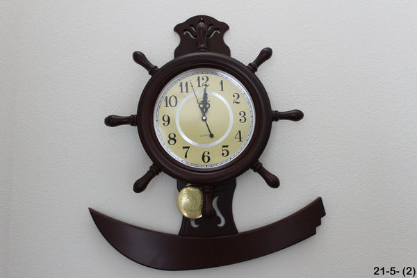21-5 Urban Designs Nautical Captain's Ship Wheel Porthole With Anchor Elegant Wall Mounted.