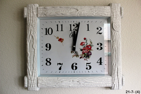 21-7 Wall Clock Tree trunk