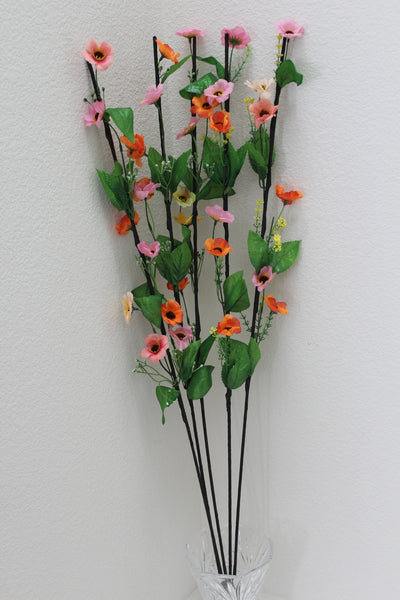 "25-6-2 Artificial Flower 41"" (105 cm) Set includes 5 single stem"