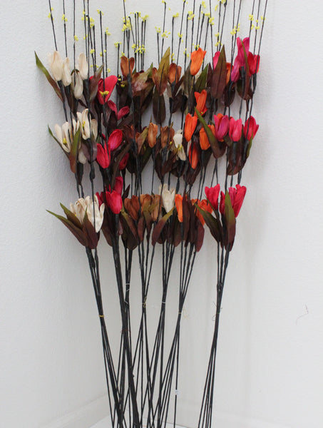 "25-7-4 Artificial Flower 41"" (105 cm) Set includes 5 single stem"