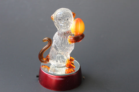 3-6 Crystal figurine Monkey with LED light with different colors