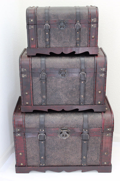 5-12 Antique Style Wooden Trunk