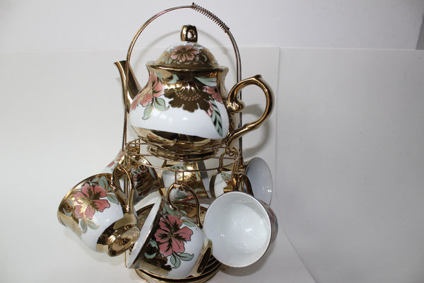 7-1 Porcelain Espresso & Tea Complete Set Cup ( With Gold plated)