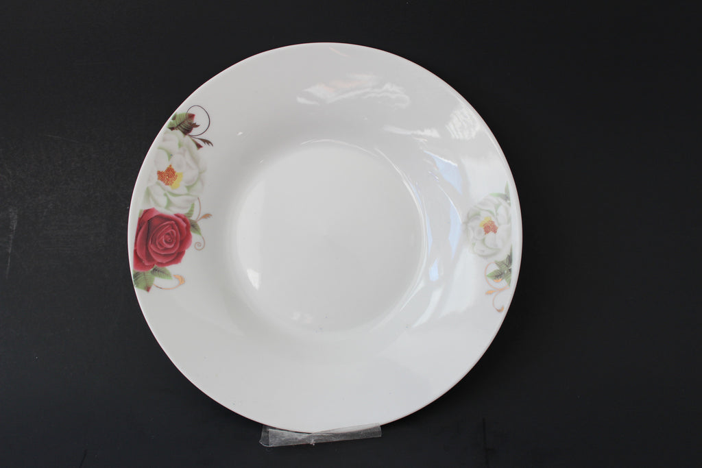 "7-11 Porcelain Plate Deep Design 7"" Diameter x 1.1/8"" H"