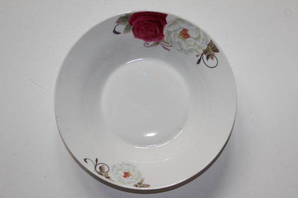"7-17 Porcelain Plate Deep Design 8.75"" Diameter x 2.75"" H"