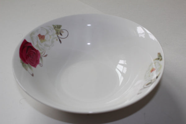 "7-23 porcelain Plate Deep Design 8"" Diameter x 1.3/4 "" H"
