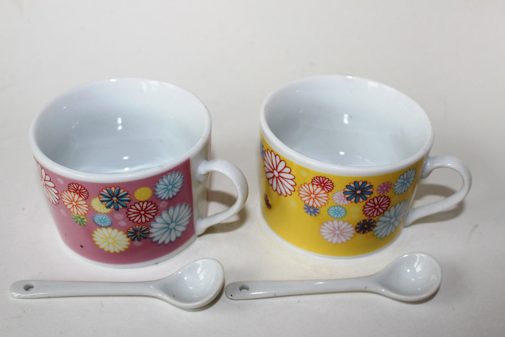 7-26 Porcelain Espresso & Tea Complete Set Cup with spoon 4 pieces