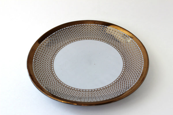 7-30 Porcelain Plate Golden plated