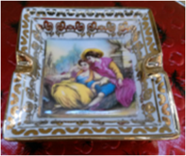 7-8 Ashtray With Gold plated