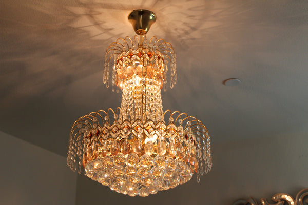 20-8 French Empire Crystal Chandelier Chandeliers