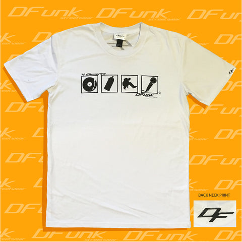 DFunk streetwear 4 elements of Hip Hop T