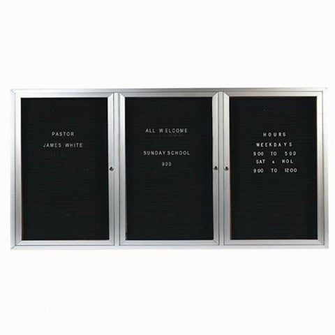Aarco Aluminum Indoor Enclosed Lighted Letter Board 8'W x 4'H - Elite Sign Boards & Sport Flags