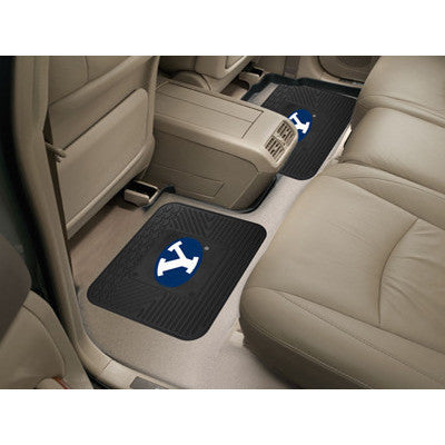 "BYU University Molded Backseat Utility Mats 2 Pack 14""x17"" - Elite Sign Boards & Sport Products"