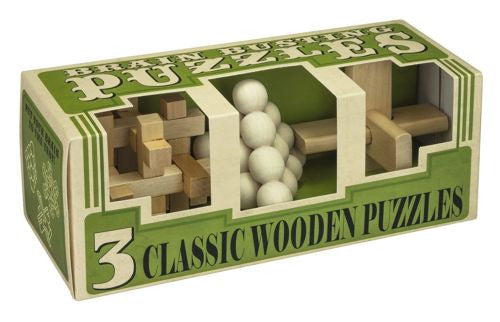 Brain Busting 3pc Wood Puzzles