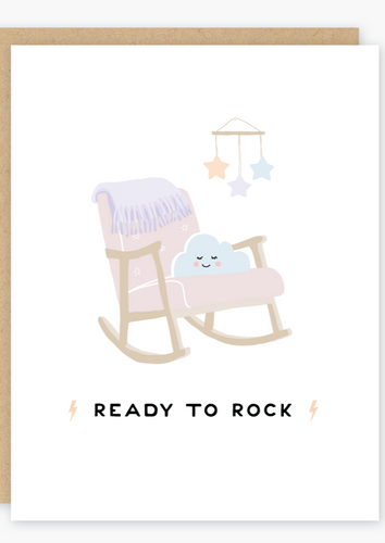 Party of One - Ready to Rock Baby Card