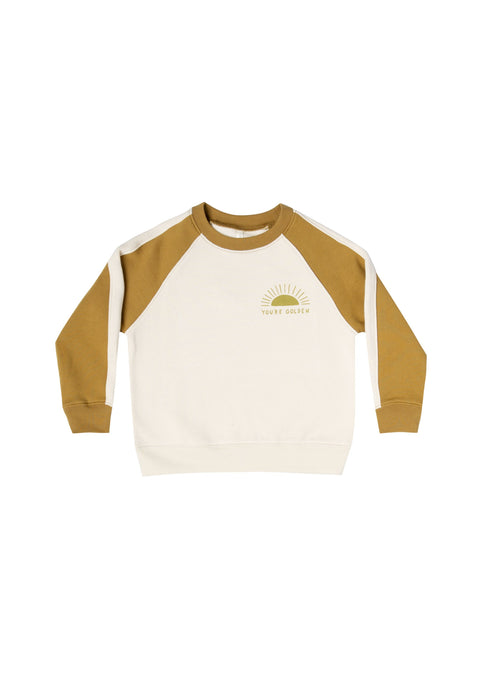 Rylee and Cru | You're Golden Raglan Sweatshirt