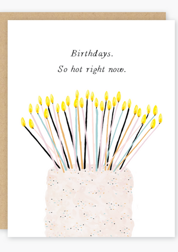 Party of One - So Hot Right Now Birthday Card