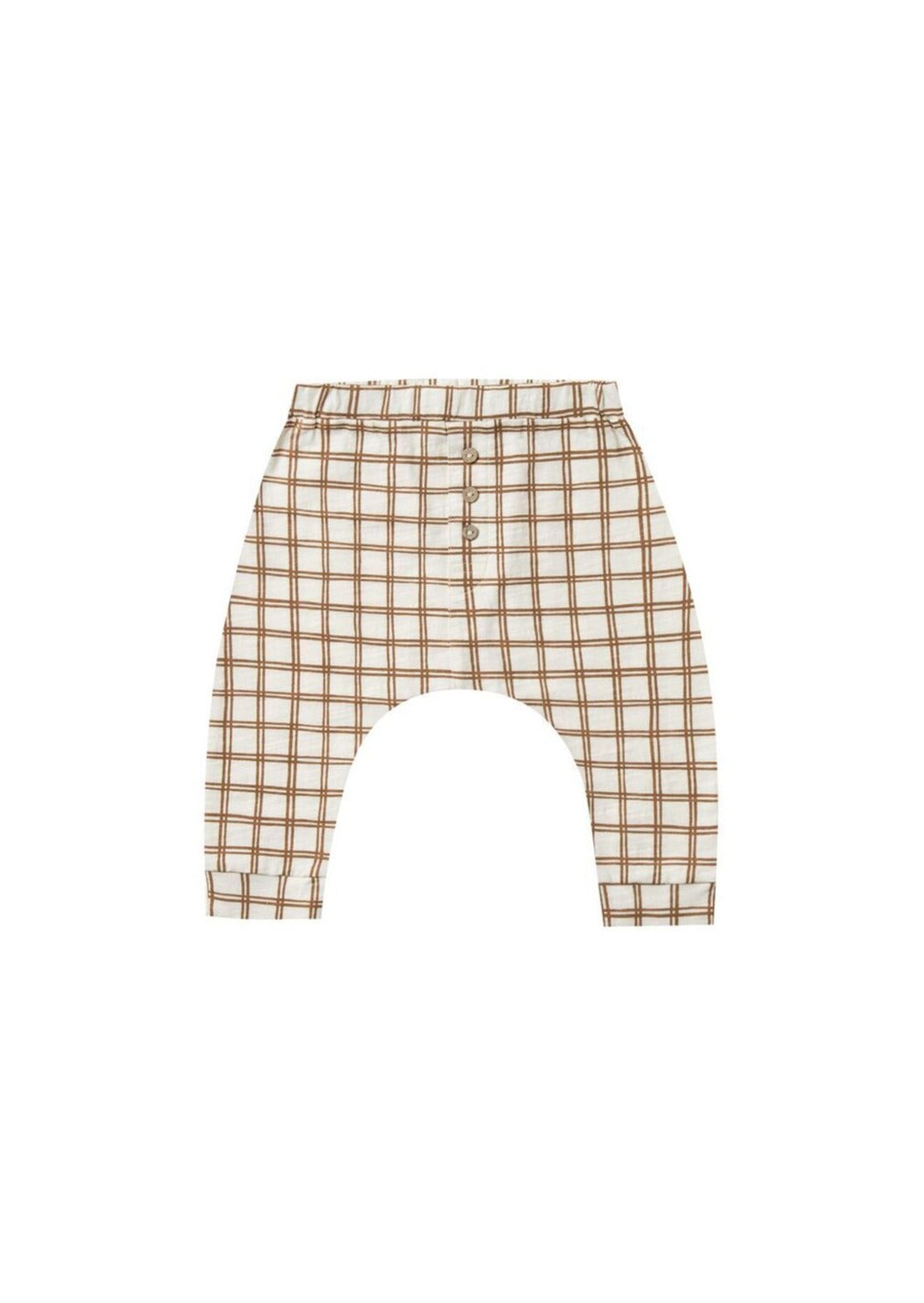 Rylee and Cru | Slub Pant | Bronze Grid