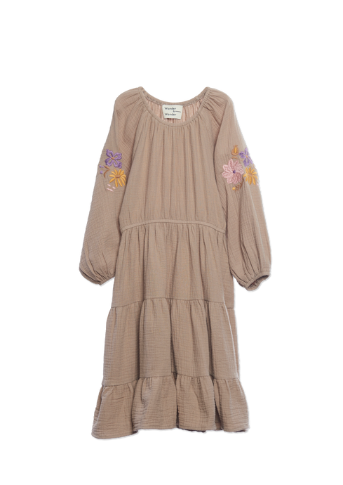 Wander & Wonder | Aicha Dress | Khaki Crinkle