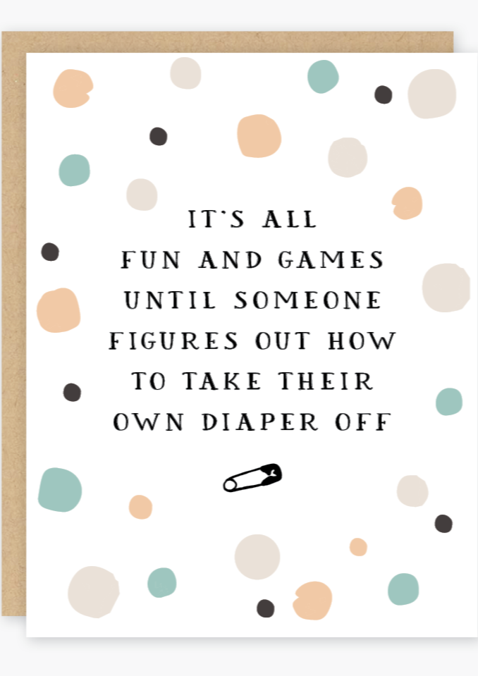 Party of One - Fun & Games Baby Card