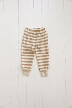 fin & vince | fleece jogger set | oatmeal stripe