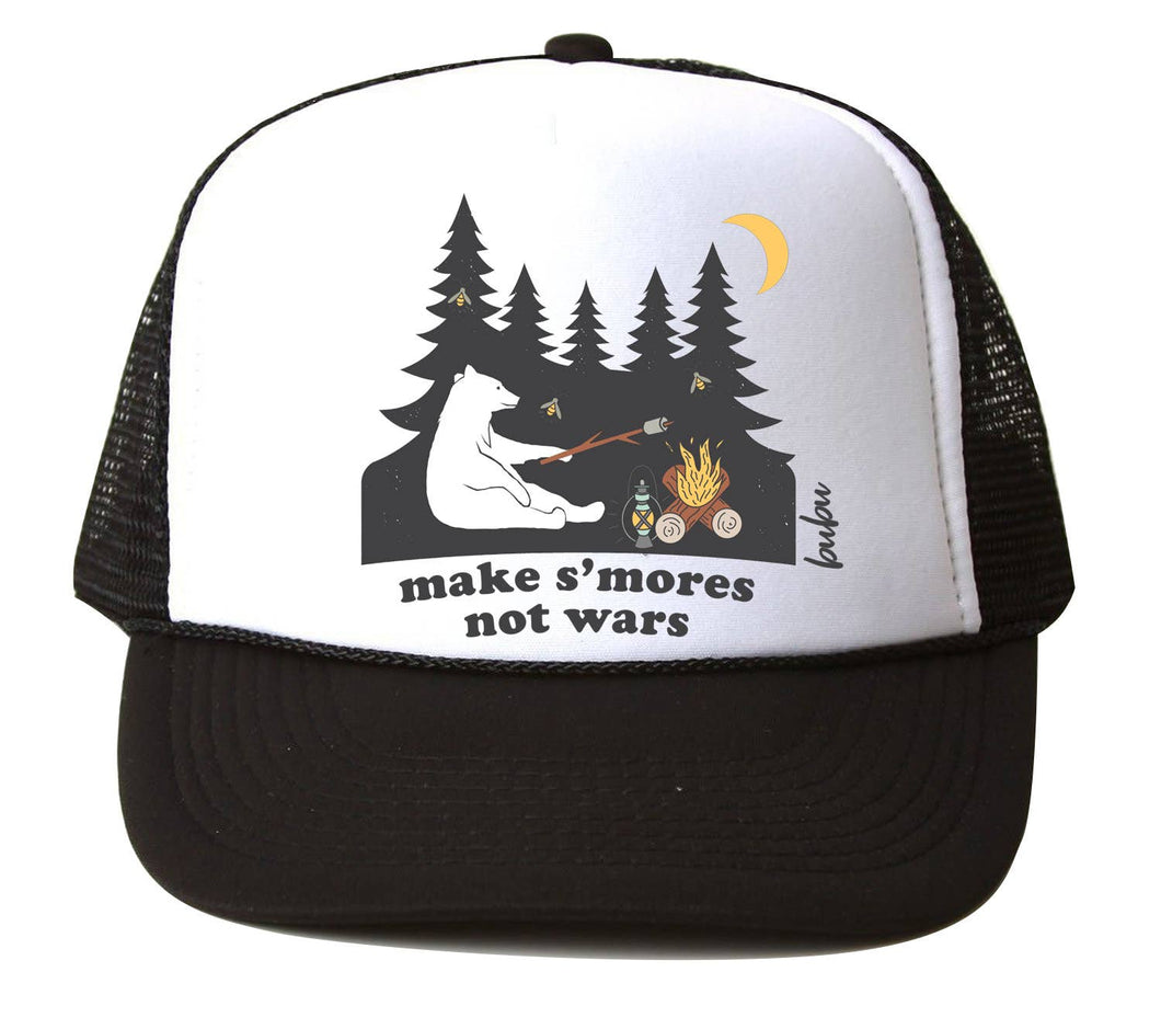 Bubu - S'mores Not Wars White/Black Trucker Hat