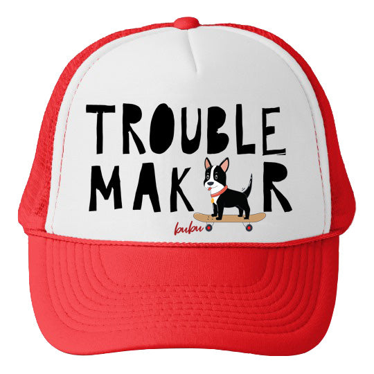 Bubu - Trouble Maker White/Red Trucker Hat