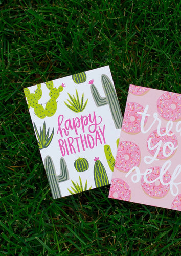 Alexa Zurcher | Happy Birthday Cactus Card