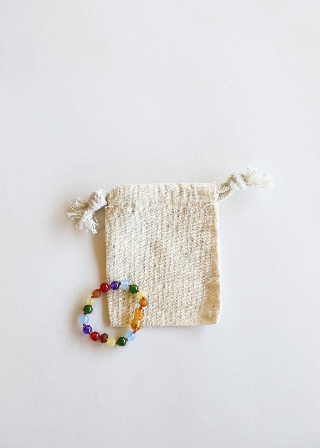 CanyonLeaf - Kids: Raw Amber + Gemstone Rainbow || Anklet