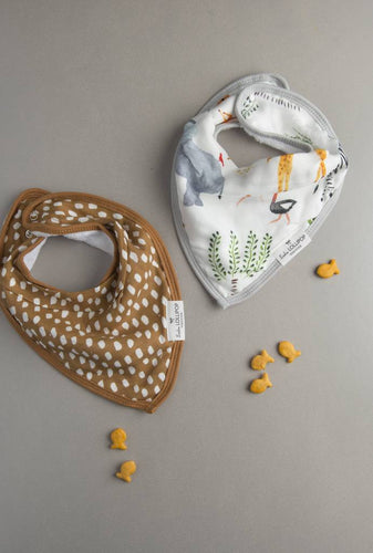 Loulou LOLLIPOP  | Luxe Muslin Bandana Bib Set | Safari Jungle