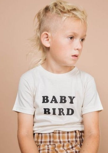 the bee and the fox baby bird tee