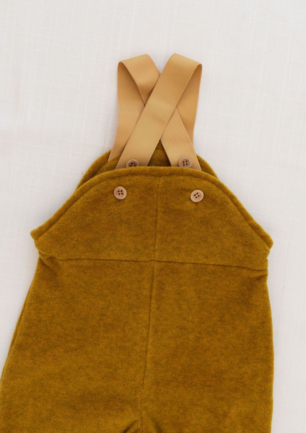 Fin & Vince | Fleece Dungaree | Mustard