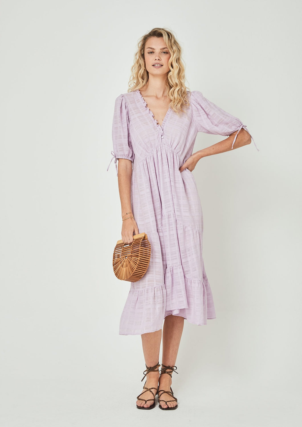 Auguste the Label | Rye Midi Dress | Lilac