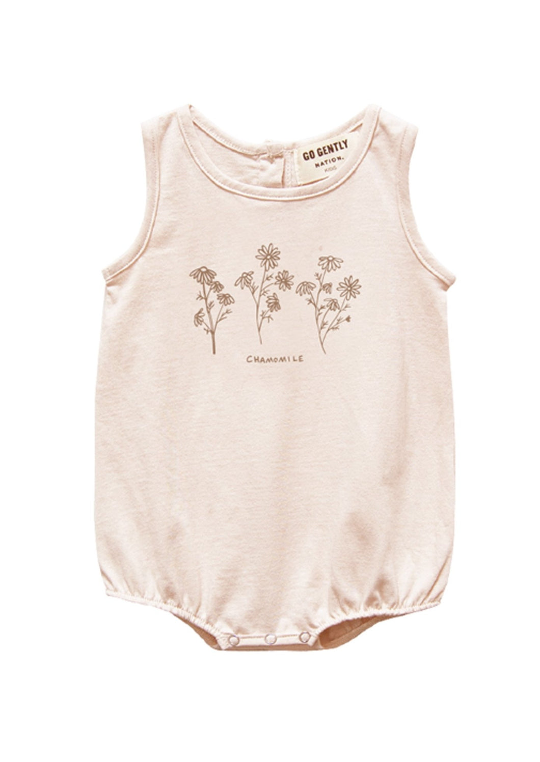 Go Gently Nation | Chamomile Jersey Onesie | Pink