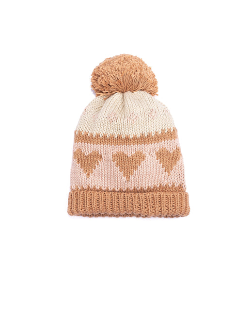 wild wawa love beanie in pecan old rose