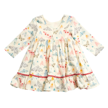 Pink Chicken | Baby Coralee Dress | Multi Watercolor Moths