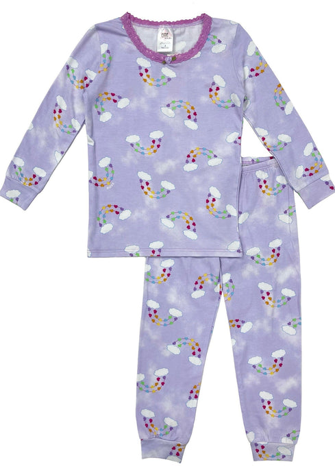 Esme Rainbow Hearts Pajamas