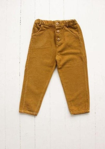 fin & vince | button trouser | mustard