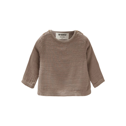 Go Gently Nation | Double Button Top | Mud