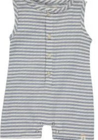 Me & Henry | striped woven playsuit | blue / white